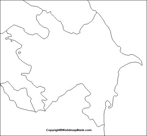 Map of Azerbaijan Practice Worksheet