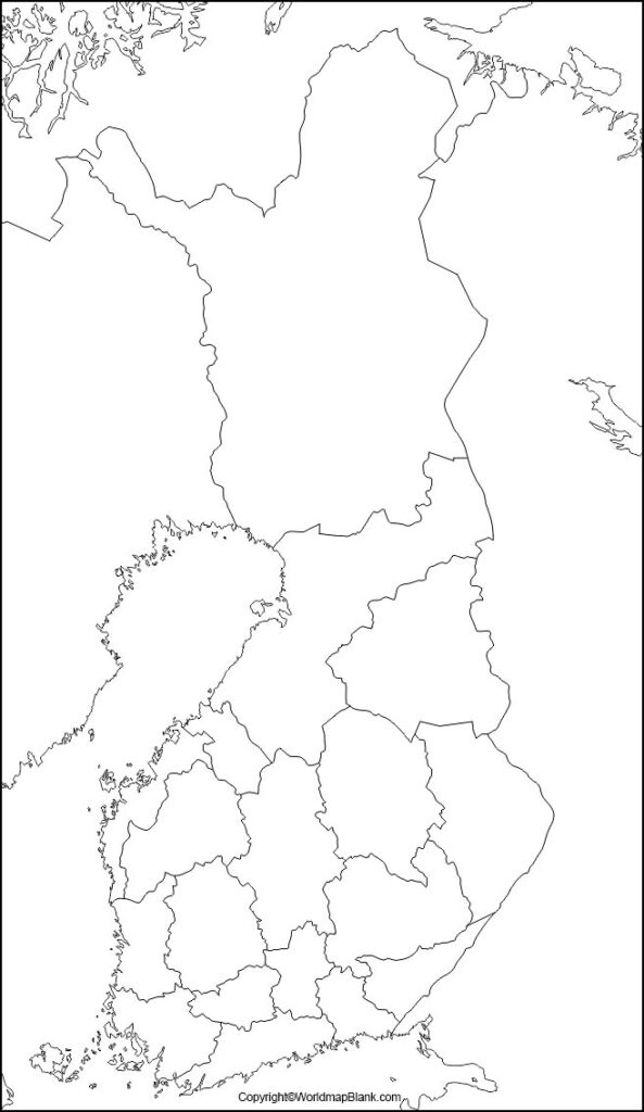 Map of Finland Practice Worksheet
