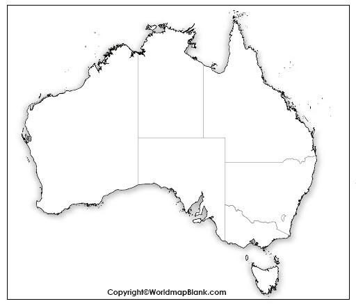 Printable Map of Australia