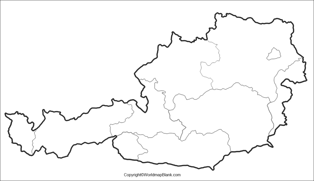 Printable Map of Austria