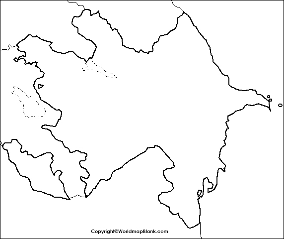 Printable Map of Azerbaijan