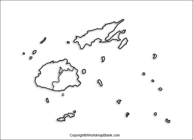 Printable Map of Fiji