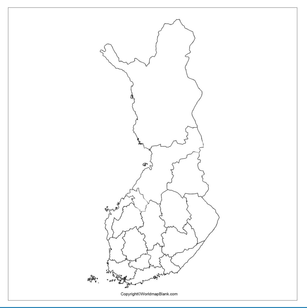 Printable Map of Finland