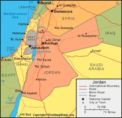 Labeled Jordan Map with Cities