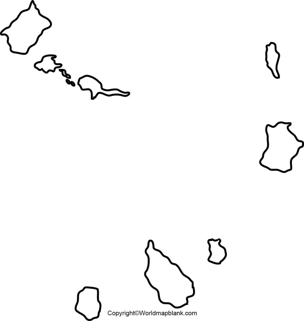Blank Map of Cabo Verde