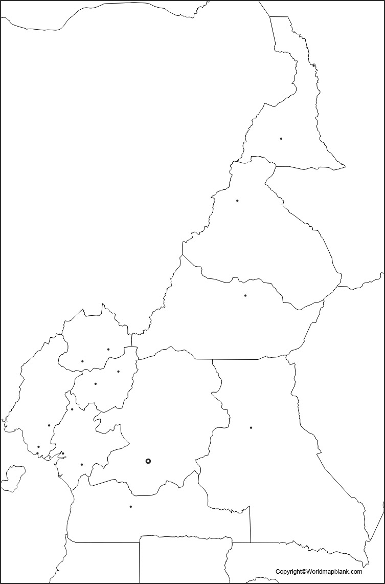 Blank Map of Cameroon - Outline