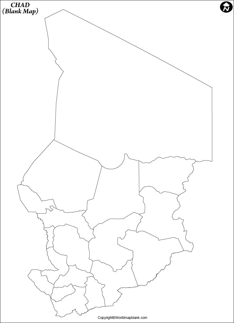 Blank Map of Chad