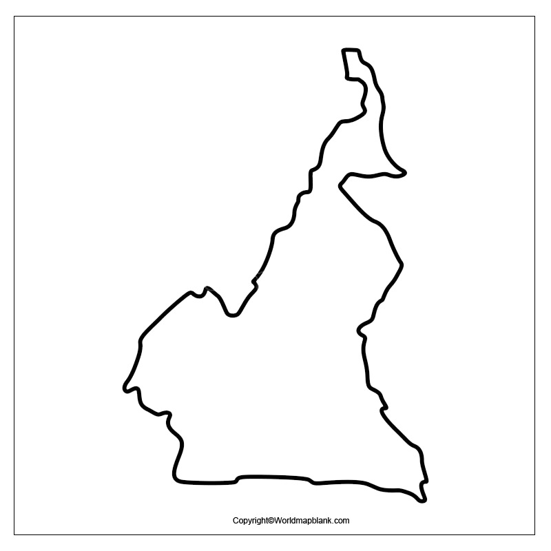 Map of Cameroon for Practice Worksheet