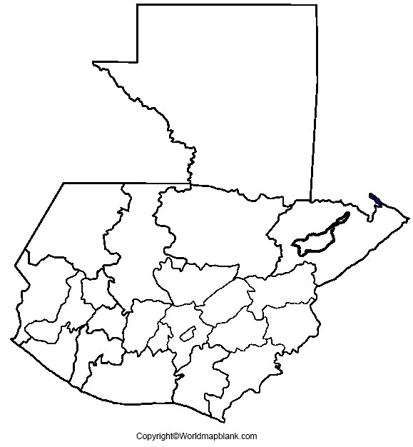 Map of Guatemala for Practice Worksheet