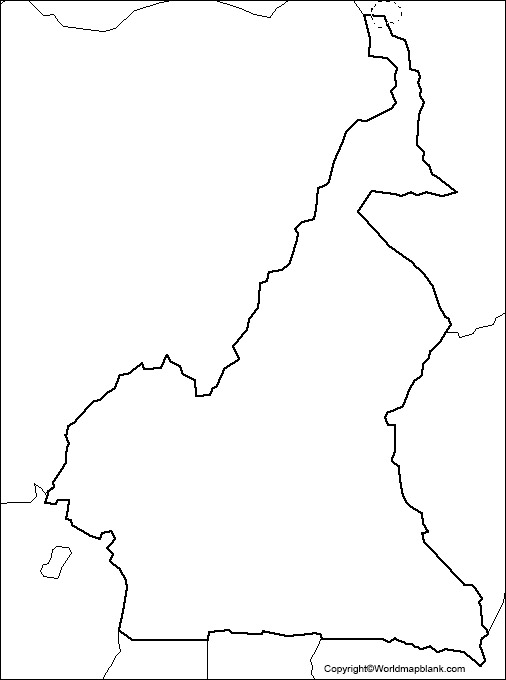 Printable Map of Cameroon