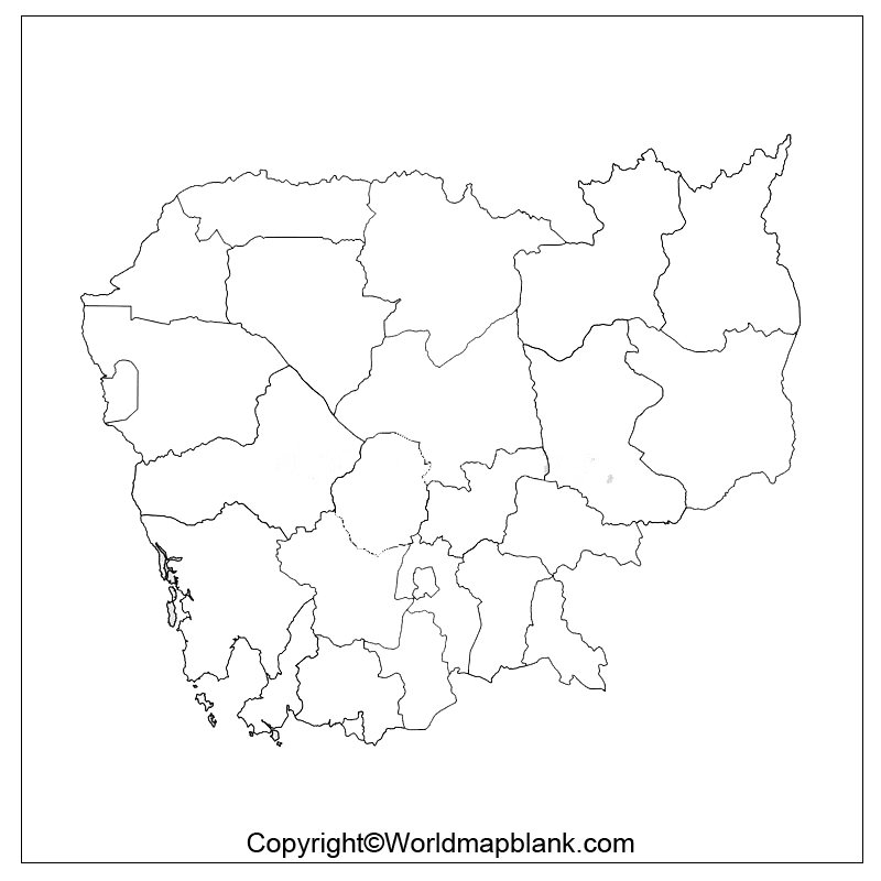 Transparent PNG Cambodia Map
