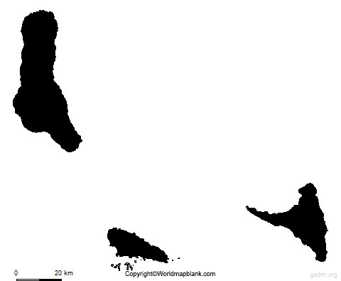Map of Comoros for Practice Worksheet