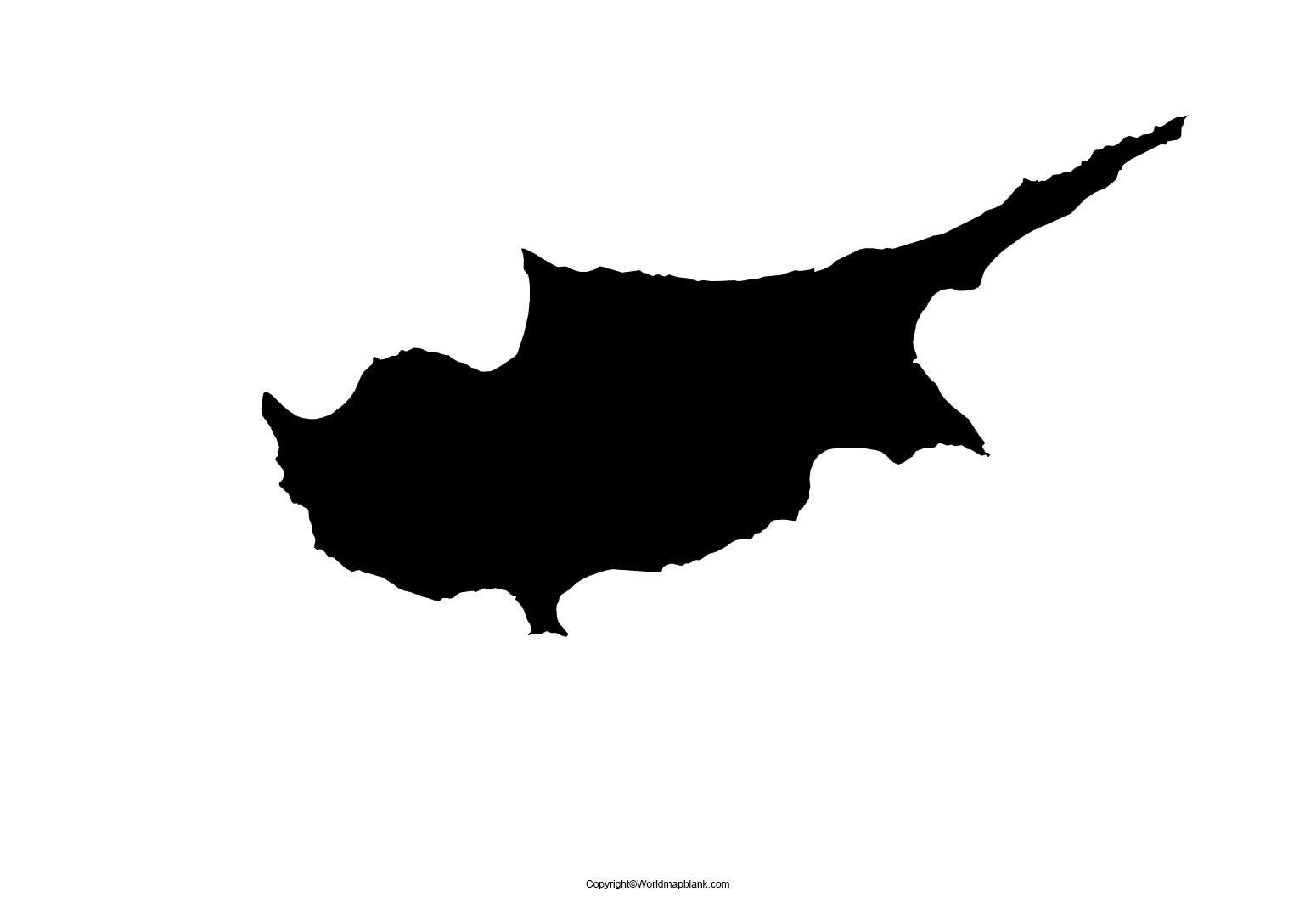 Map of Cyprus for Practice Worksheet