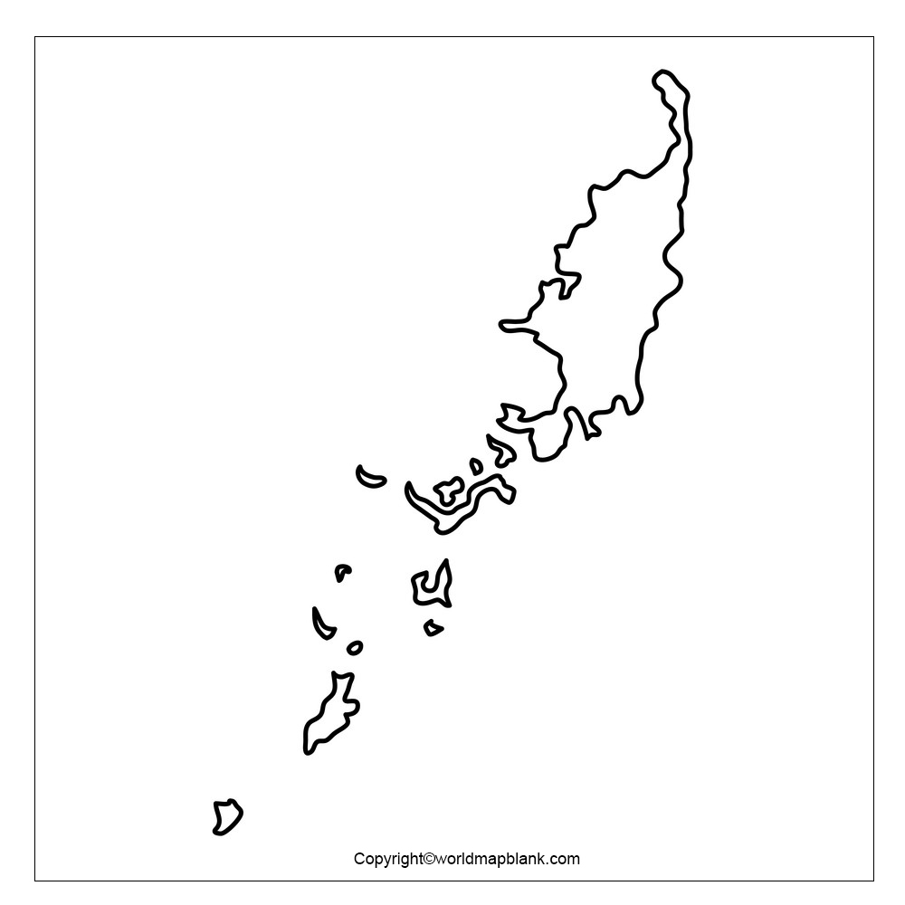 Map of Palau for Practice Worksheet