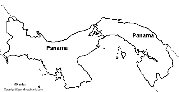 Map of Panama for Practice Worksheet