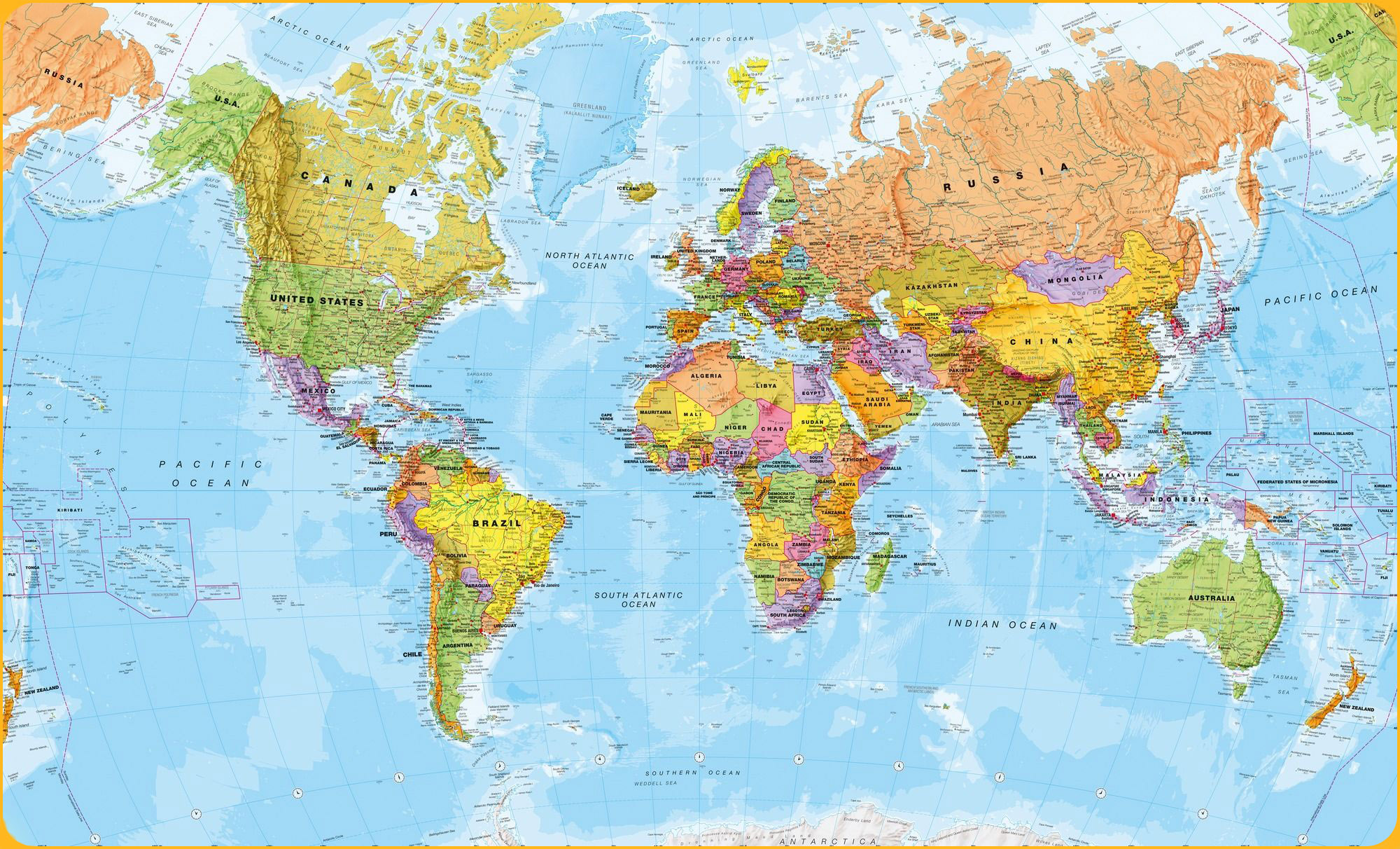 Map of World Poster
