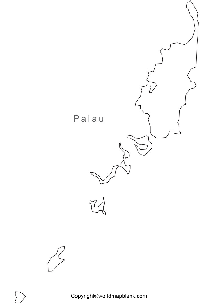 Blank Map of Palau