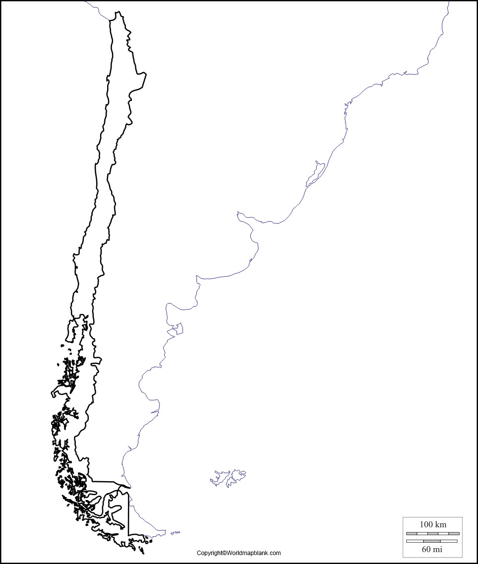 Printable Map of Chile