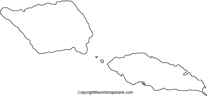 Printable Map of Samoa