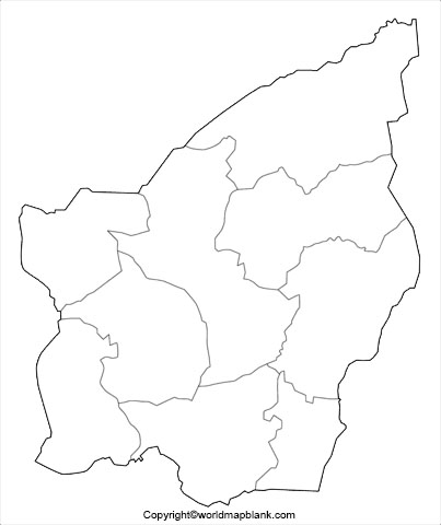 Printable Map of San Marino