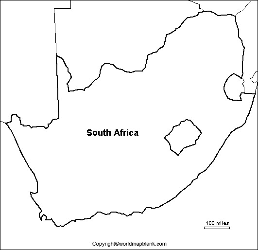 Printable Map of South Africa