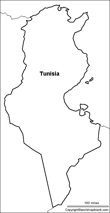 Blank Map of Tunisia