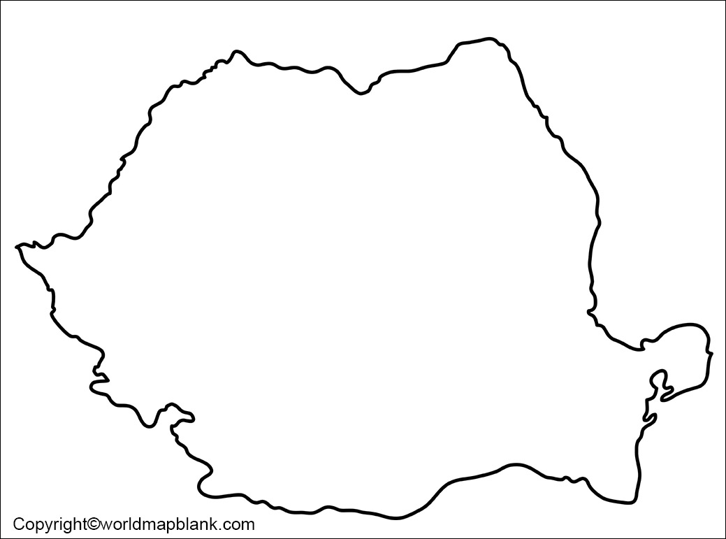 Blank Map of Romania - Outline