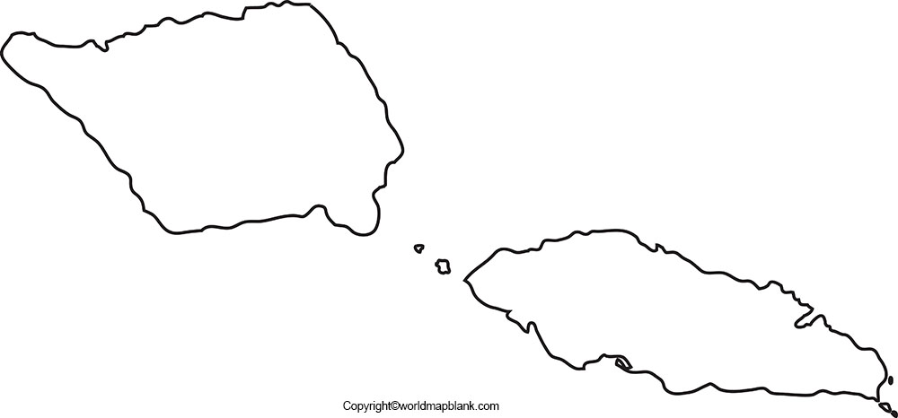 Blank Map of Samoa
