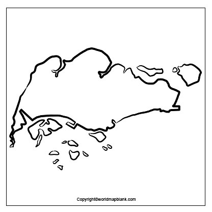 Blank Map of Singapore