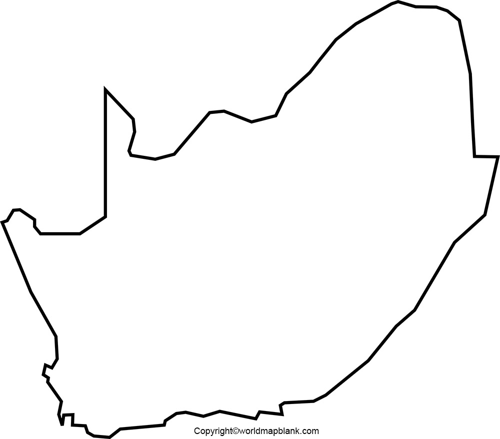 Blank Map of South Africa