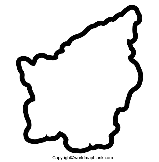 Blank Map of San Marino