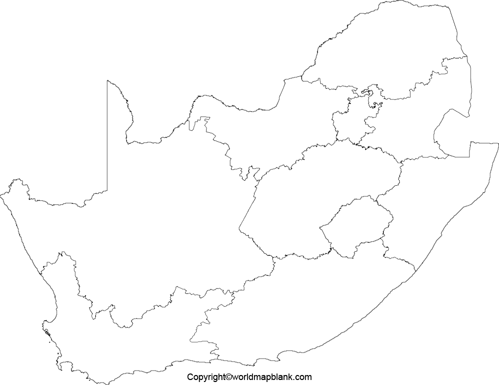 Transparent PNG South Africa Map