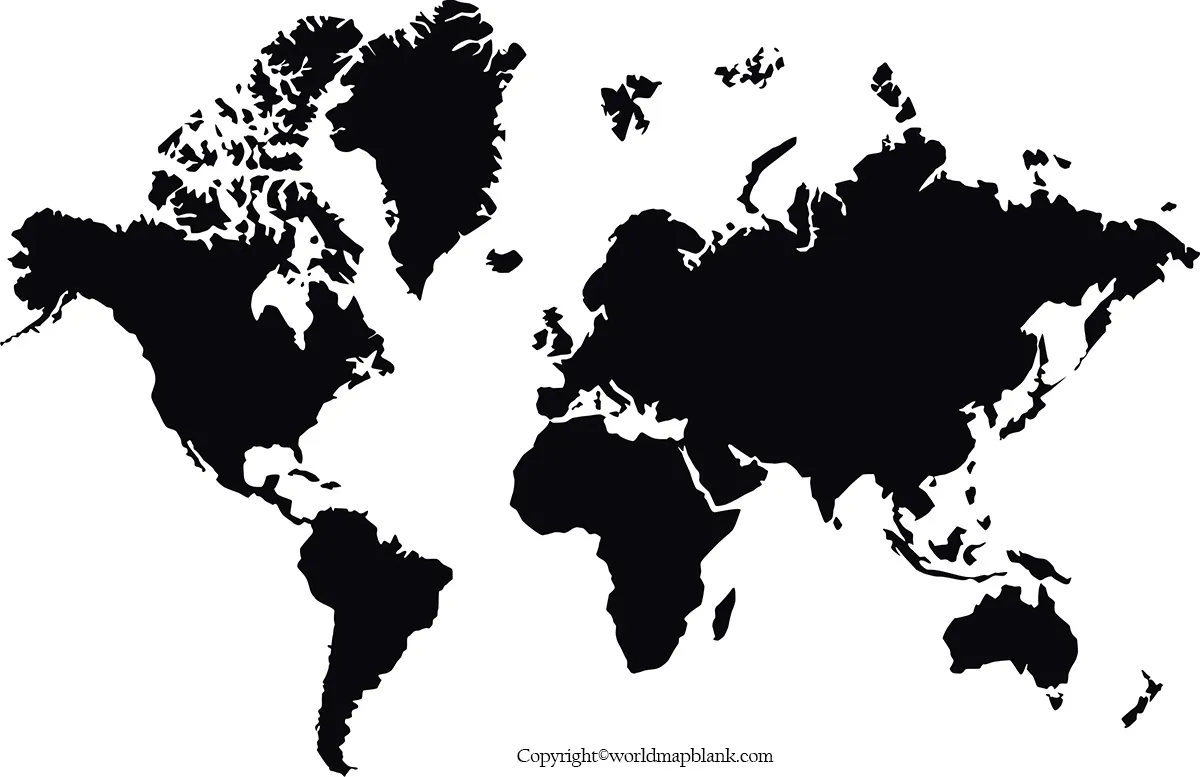 World Map Poster Black and White