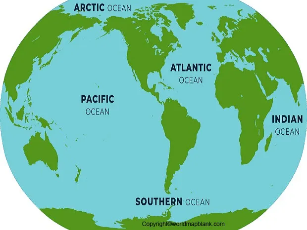world map with oceans name