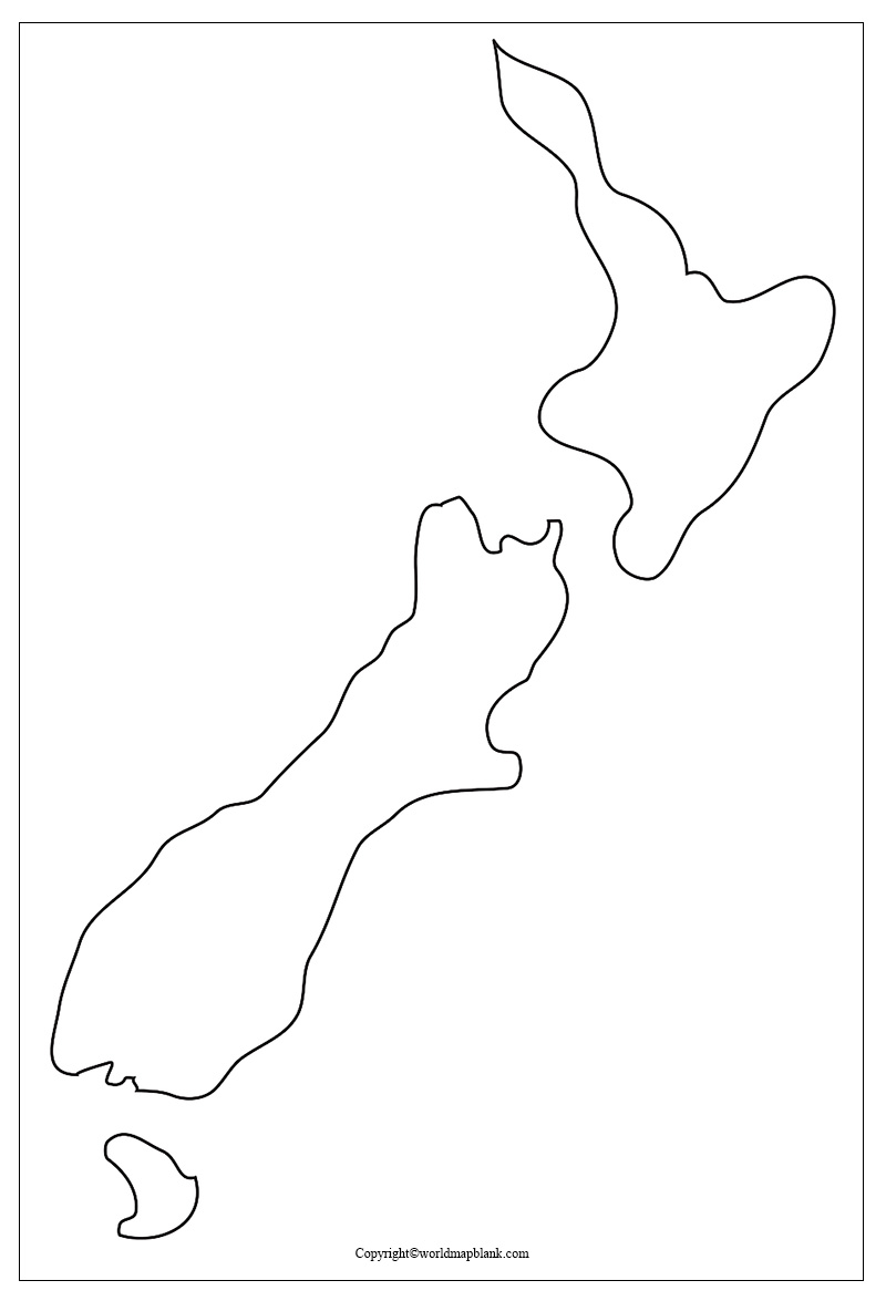 Blank Map of New Zealand