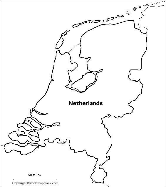 Printable Map of Netherlands
