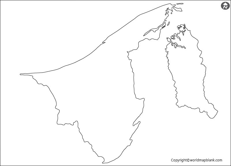 Blank Map of Brunei