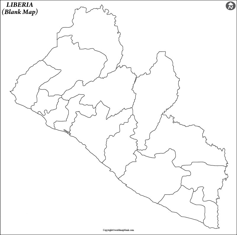 Blank Map of Liberia