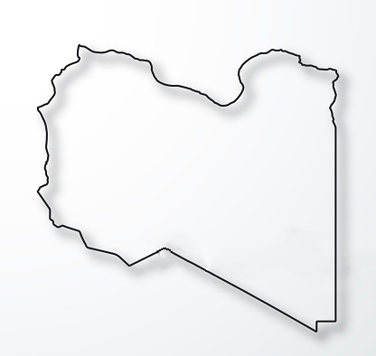Transparent PNG Blank Map of Libya