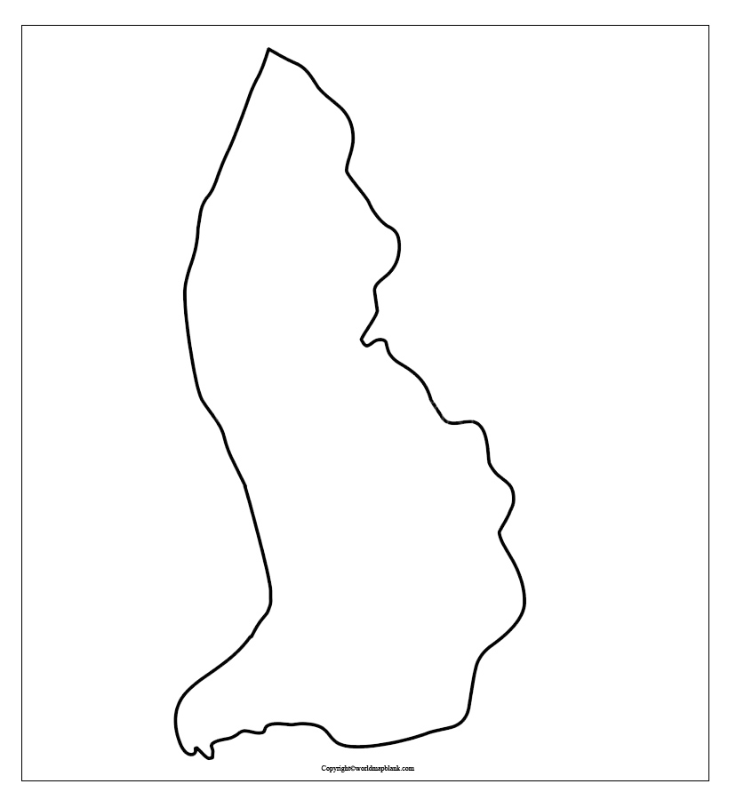 Map of Liechtenstein for Practice Worksheet