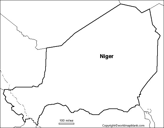 Map of Niger for Practice Worksheet