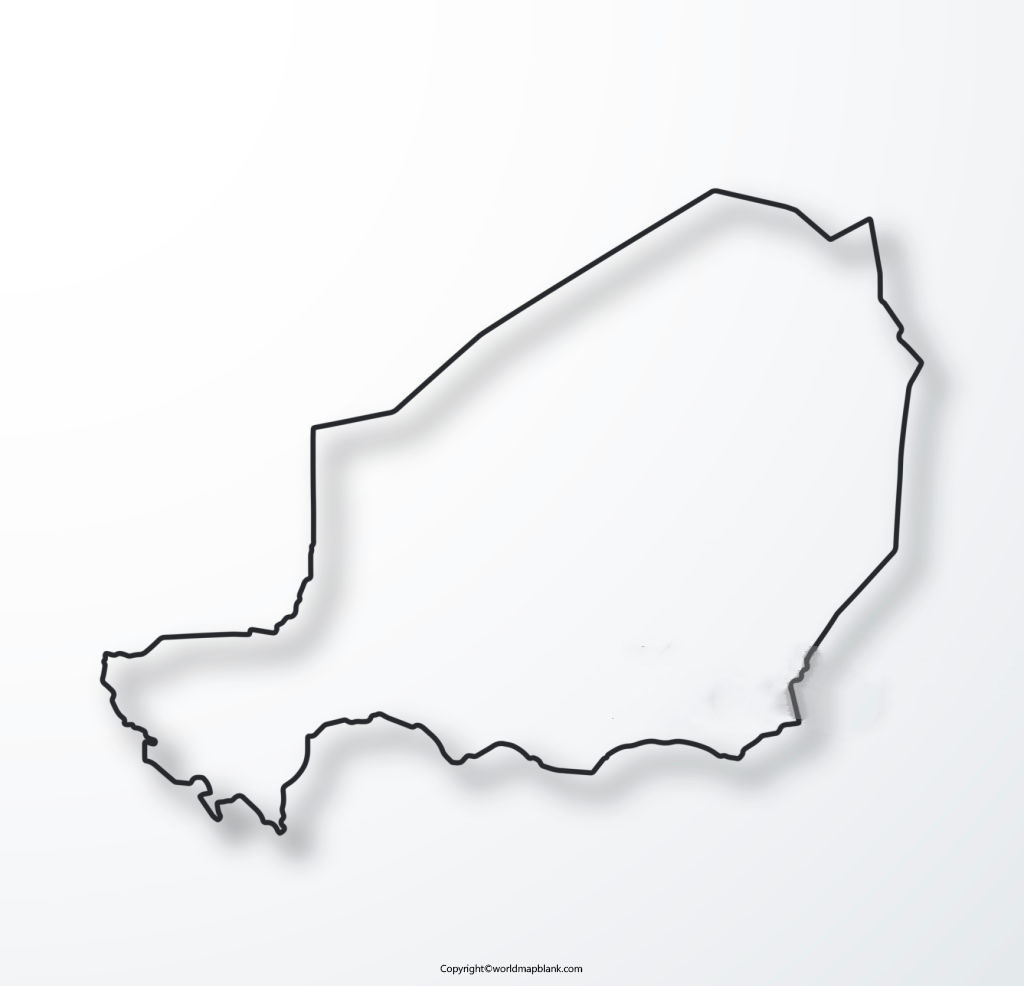 Blank Map of Niger