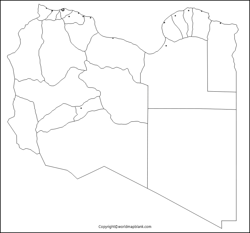 Printable Map of Libya