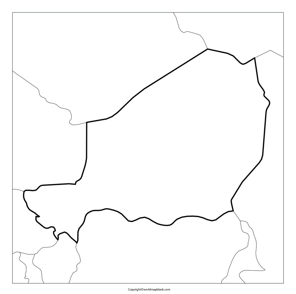 Printable Map of Niger