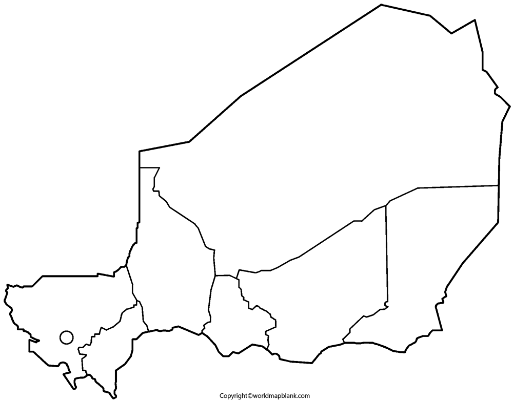 Transparent PNG Blank Map of Niger