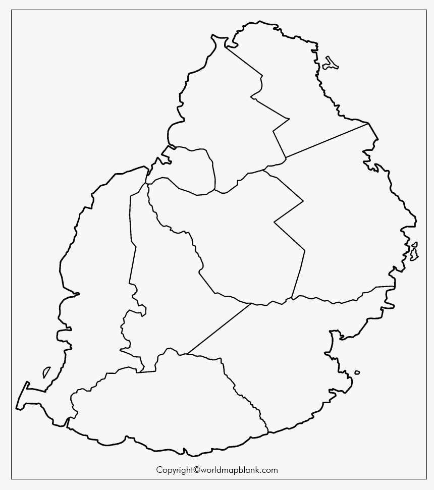 Blank Map of Mauritius for Practice Worksheet