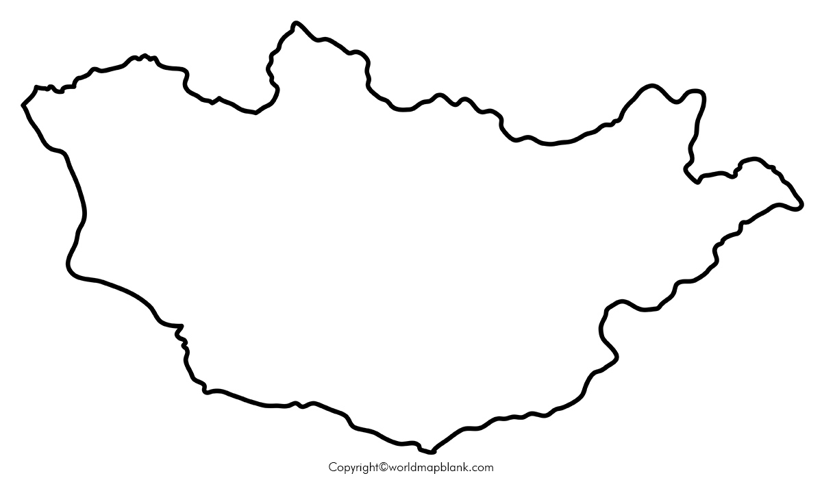 Blank Map of Mongolia – Outline