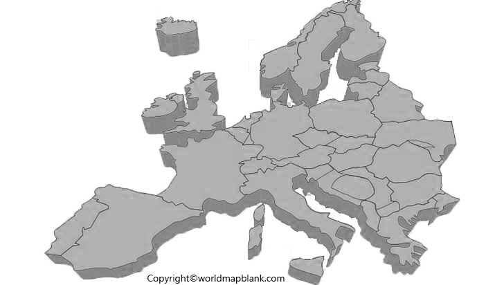 Printable Map of Europe