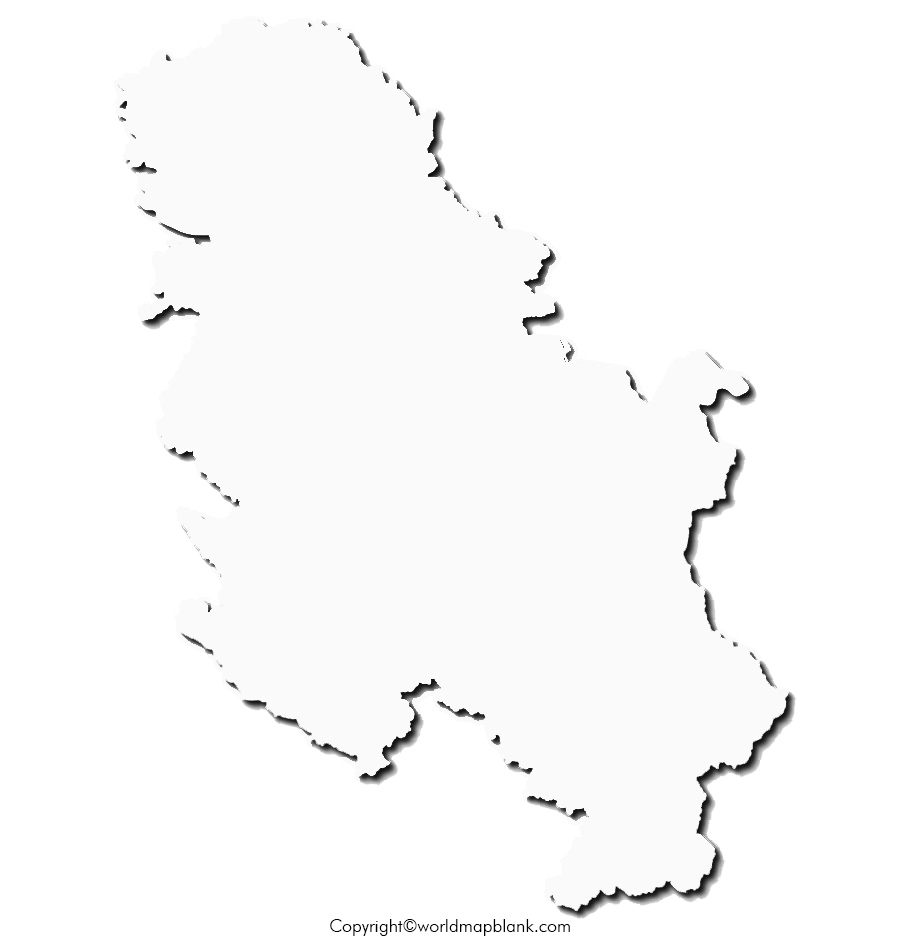 Blank Map of Serbia -Outline
