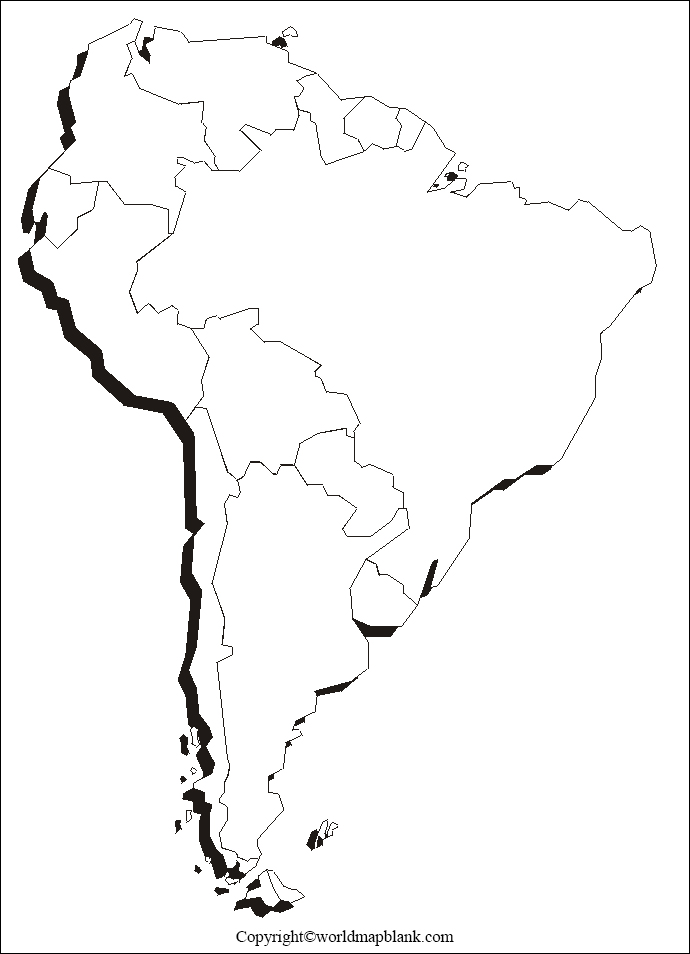 Blank Map of South America